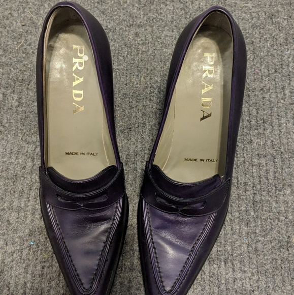 Prada Shoes - Purple Prada High-Heeled Loafers